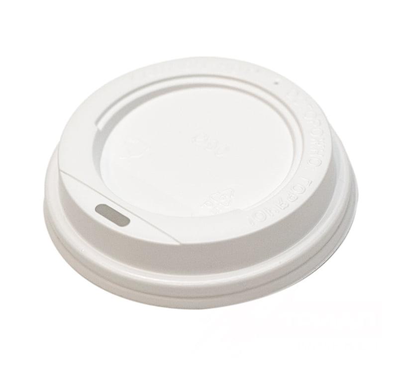 Крышка для бумажного стаканчика HoReCa 250 мл. белая